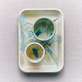 Plateau  'Marble' Lemon _