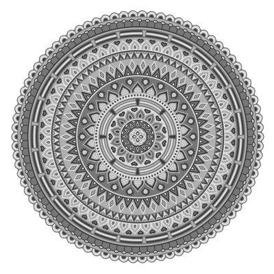 Placemat Mandala 2 grijs
