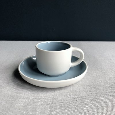 Espressokop & schotel Tint blauw
