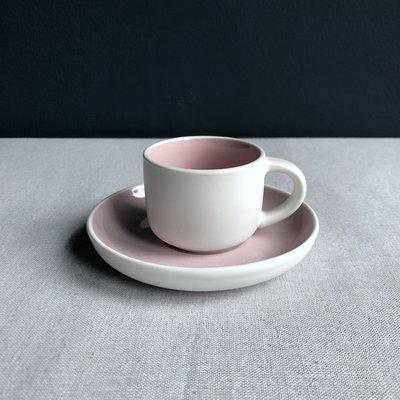 Espressokop & schotel Tint roze