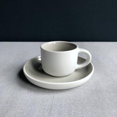 Espressokop & schotel Tint grijs