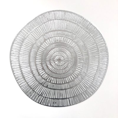 Placemat rond Zilver