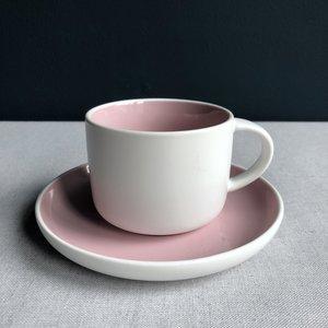 Koffiekop & schotel Tint roze