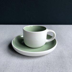 Espressokop & schotel Tint groen