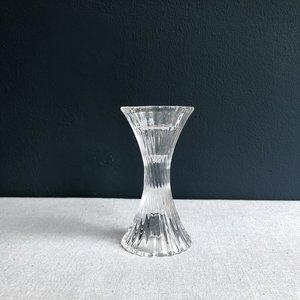 Kandelaar gedraaid glas 13cm