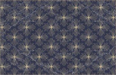 Placemat Art Nouveau blauw