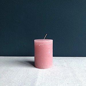 Kaars Branded 10cm roze
