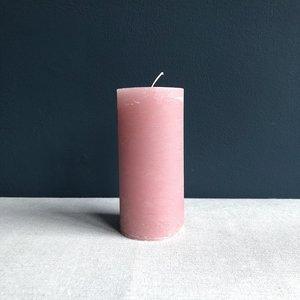 Kaars Branded 15cm roze