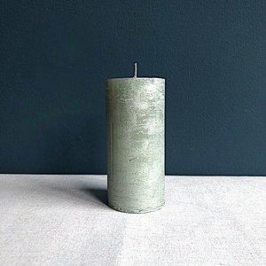 Kaars 15 cm metallic groen