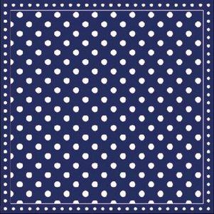 Cocktailservet Dots blauw